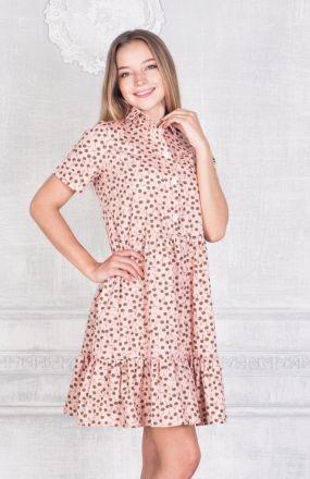 Очаровательное платье из хлопка с воланами