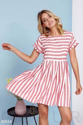 Платье-мини свободного кроя