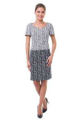 Платье POTIS&VERSO Бруно 386H цвет черно-белый