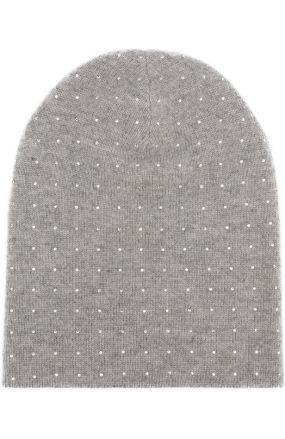 Кашемировая шапка бини с отделкой стразами William Sharp