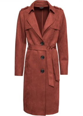 Пальто из искусственной замши