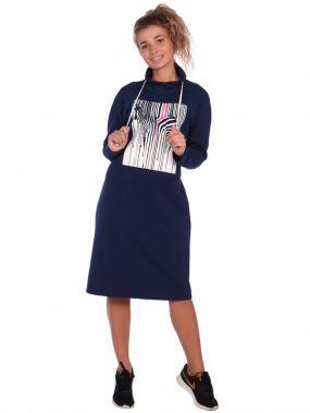 Платье трикотажное Моргана (темно-синее)