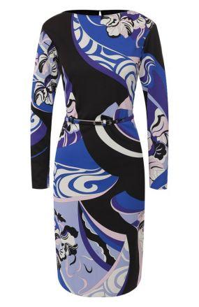 Платье с поясом Emilio Pucci