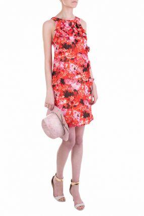 Платье-трапеция с цветочным декором