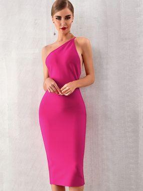 Adyce облегающее платье на одно плечо