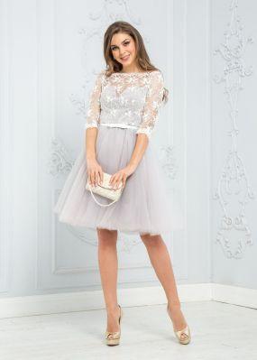 Коктейльное платье с пышной юбкой из фатина ZEK005B