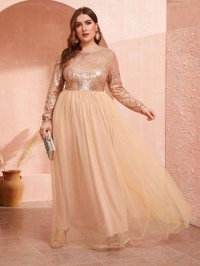 Платье с блесиками размера плюс