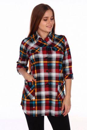 Рубашка трикотажная Клавдия (красная)