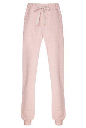 Розовые брюки с эластичным поясом