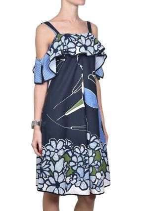 Платье-сарафан с цветами