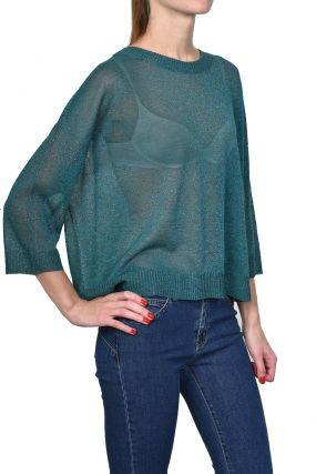 Малахитовый тонкий пуловер
