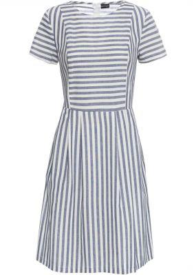 Платье в полоску, короткие рукава
