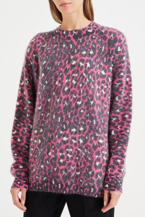 Джемпер с леопардовым узором