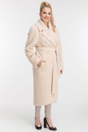 Пальто из альпака в классическом стиле