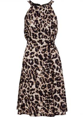 Платье с блестящим принтом