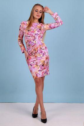Платье трикотажное Эрита (нежно-розовое)