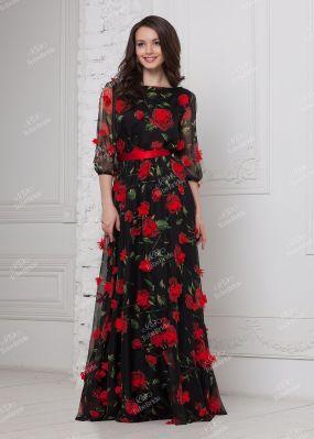 Шифоновое платье в пол ND155B