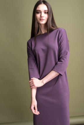 Платье MAYBE плотный трикотаж лаванда (42-44)