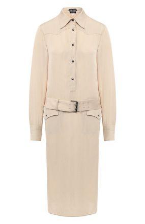Платье с поясом Tom Ford