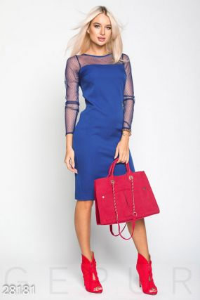 Эффектное офисное платье