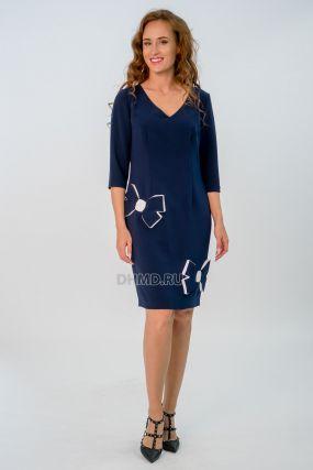 Платье POLA MONDI Ута цвет темно-синий