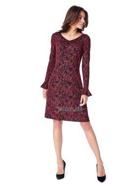 Платье POTIS&VERSO Мадисон 387N-J8 цвет темно-красный