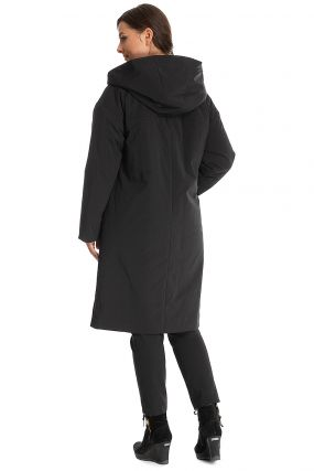 Прямое демисезонное пальто на синтепоне
