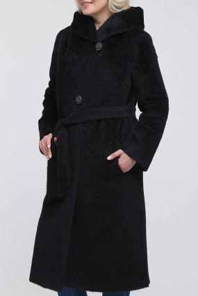 Прямое длинное пальто из альпака сури