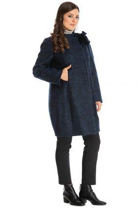 Стильное женское драповое пальто