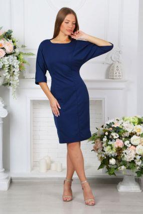 Платье трикотажное Джесси (синее)