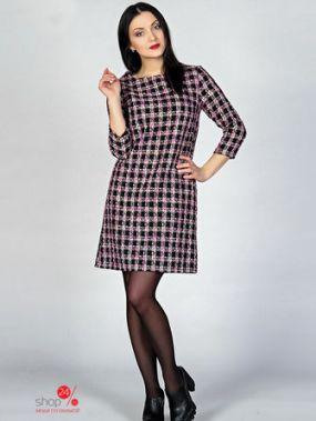 Платье MariKo, цвет черный, розовый