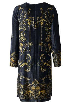 Бархатное платье из вискозы и шелка