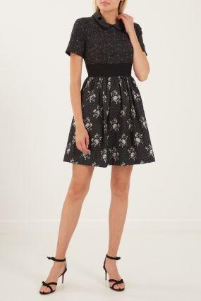 Комбинированное мини-платье