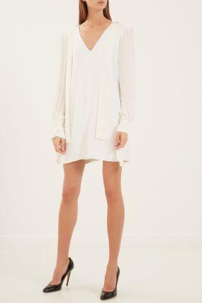 Белое платье с погонами
