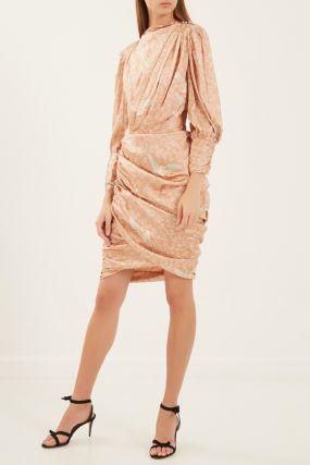 Короткое платье с драпировками