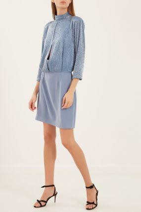 Голубое платье с бисером