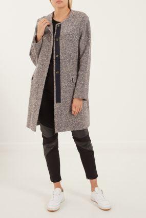 Серое пальто с кашемиром