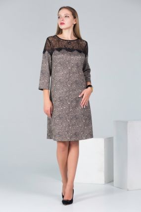 Универсальное платье с гипюром
