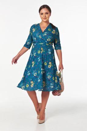 Платье с широкой юбкой миди