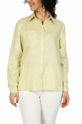 Блузка бледно-зеленая