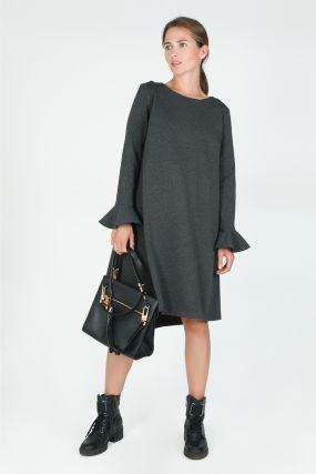 Платье темно-серое