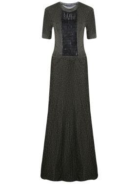 Платье в пол с декором