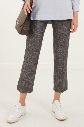Фактурные серые брюки