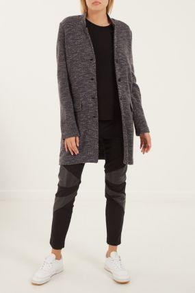 Вязаное пальто с кашемиром