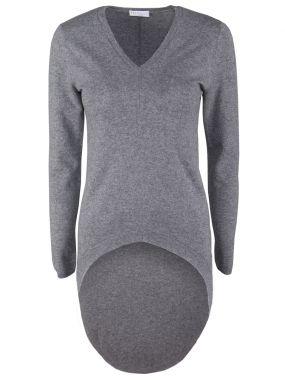 Удлиненный пуловер из кашемира