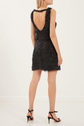 Платье с фактурной отделкой