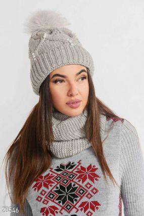 Зимний комплект с шапкой
