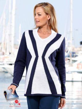 Пуловер M.Collection Klingel, цвет темно-синий, белый