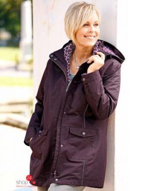 Куртка 2 в 1 M.Collection Klingel, цвет сливовый, рисунок