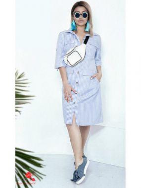 Платье Irina Foksy, цвет голубой